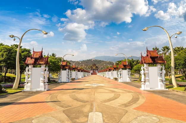 Het royal ratchaphruek park in chiang mai in thailand