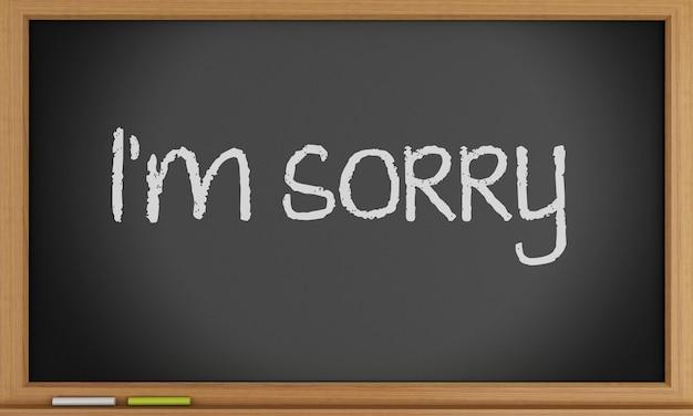 Het spijt me geschreven op blackboard.