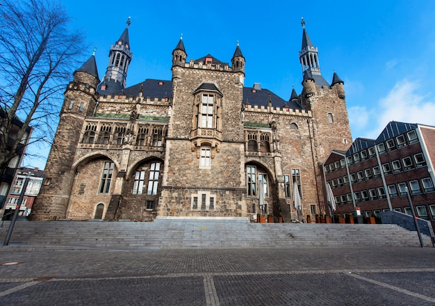 Het stadhuis van aken in duitsland