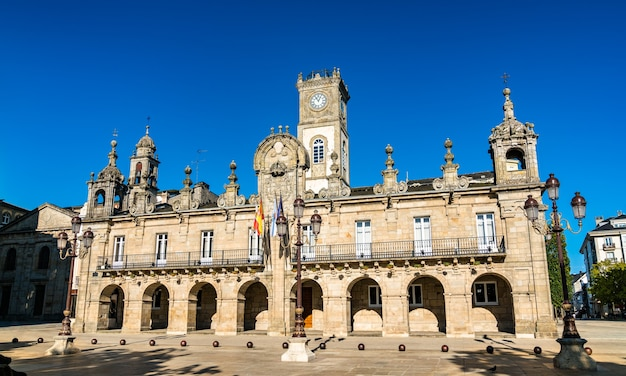 Het stadhuis van lugo in spanje