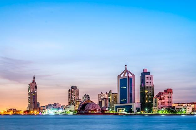 Het stadslandschap en de horizon van qingdao