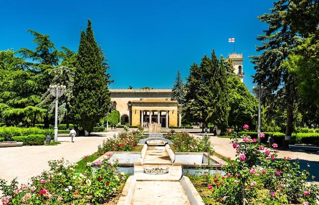 Het stalinpark in gori, georgië. gori is de geboorteplaats van joseph stalin
