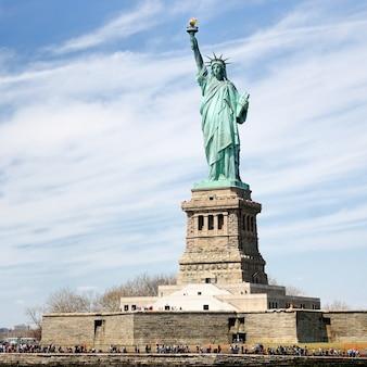 Het standbeeld van vrijheid en vrijheidseiland