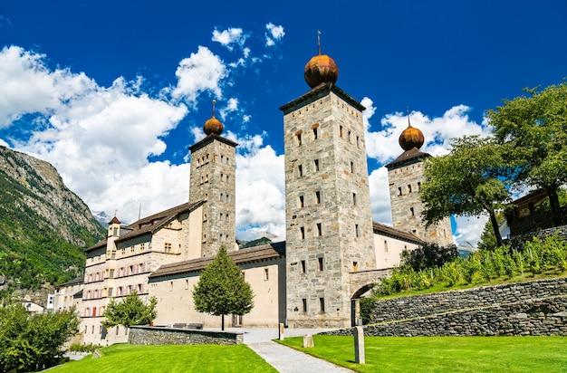 Het stockalper-paleis in brig - het kanton wallis, zwitserland