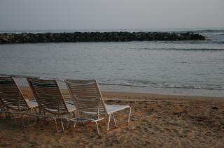Het strand ligstoelen, stoelen