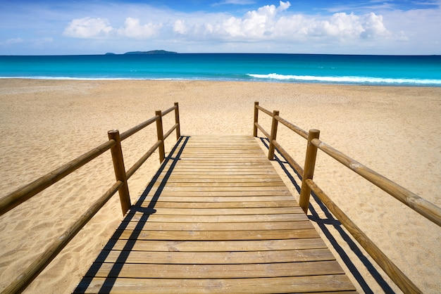 Het strand van montalvo in pontevedra van galicië sanxenxo