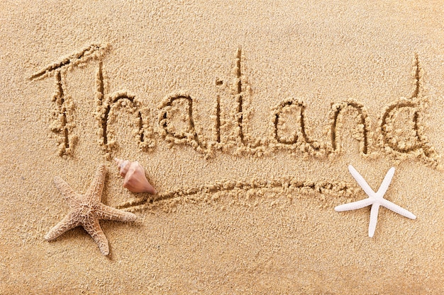 Het strand van thailand het schrijven berichtteken