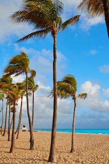 Het strandzonsopgang florida de vs van fort lauderdale