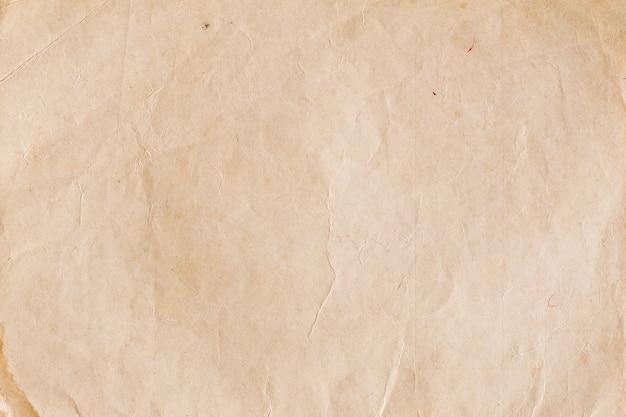 Het uitstekende pakpapier met rimpels, vatten oude document texturen voor achtergrond samen