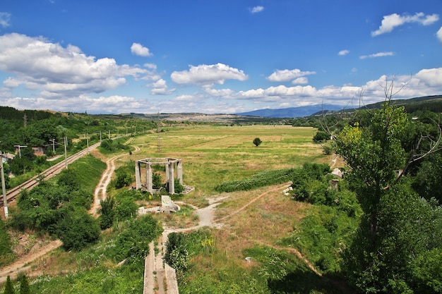 Het uitzicht op de bergen in bulgarije