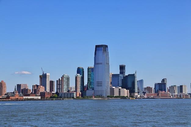 Het uitzicht op de binnenstad, new york, verenigde staten