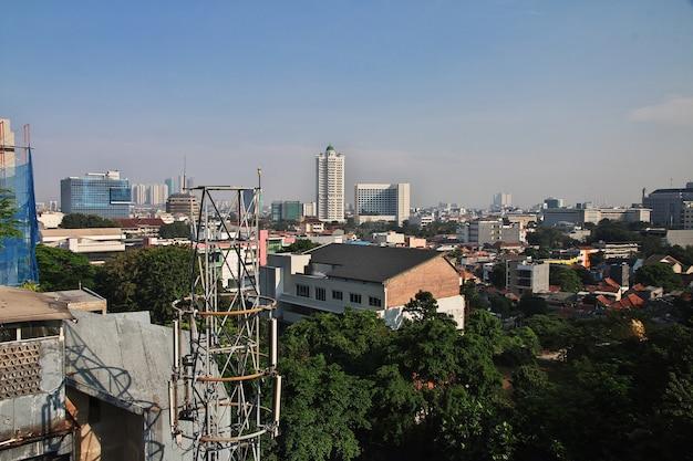 Het uitzicht op de stad jakarta, indonesië