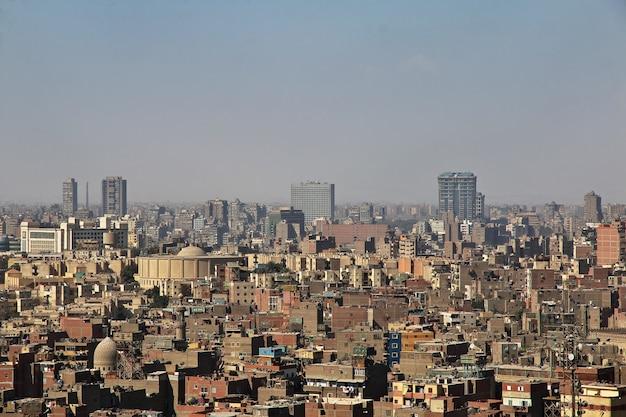 Het uitzicht op het centrum van caïro in egypte