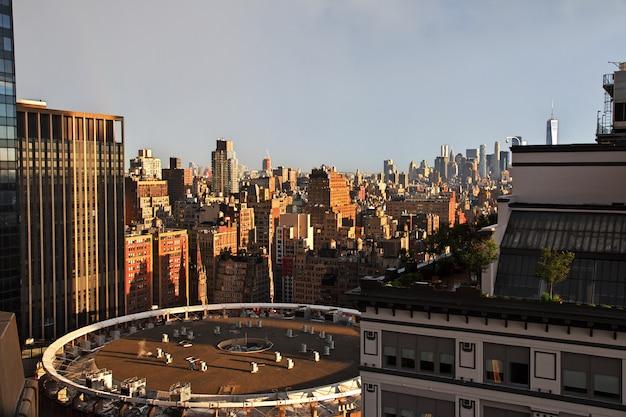 Het uitzicht op new york, verenigde staten