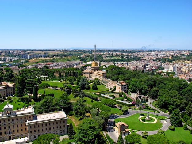 Het uitzicht op vaticaan, rome, italië