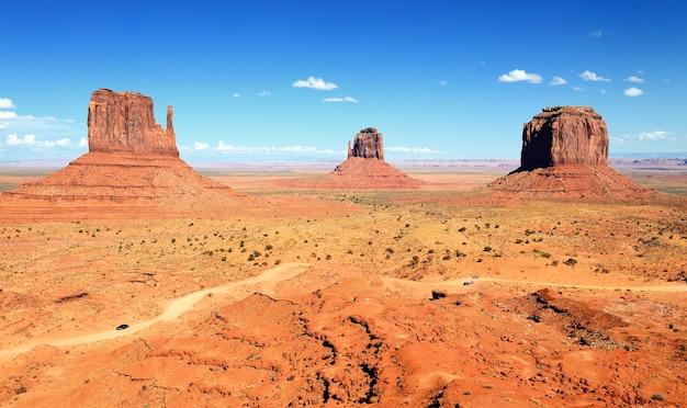 Het unieke landschap van monument valley, utah, vs. Premium Foto