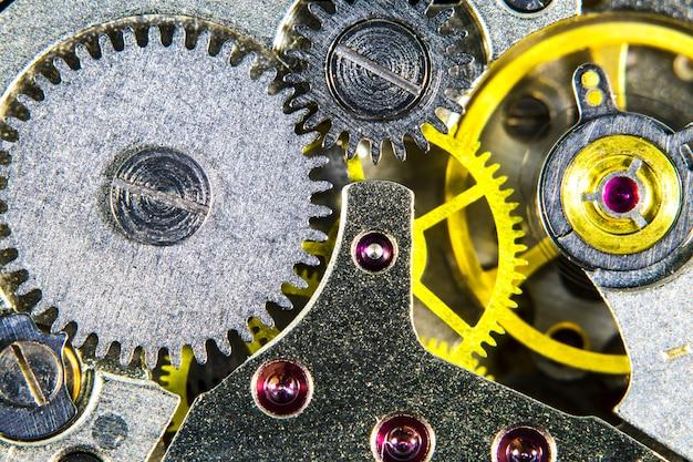Het uurwerk oude mechanische hoge resolutie