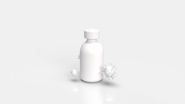 Het vaccin covid 19 voor uitbraak en medische concept 3d-rendering.