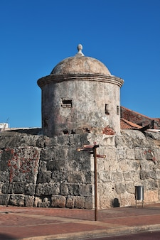 Het vintage fort in cartagena, colombia, zuid-amerika