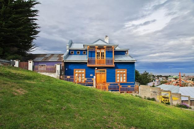 Het vintage huis in punta arenas in patagonië, chili