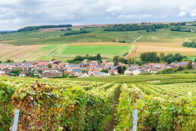 Het vintage platteland in reims, reims is een stad in de historische champagne van het noordoosten van frankrijk