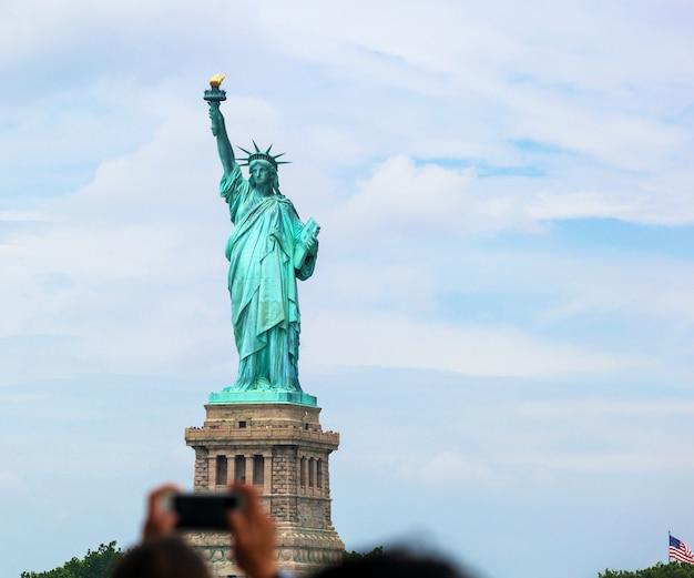 Het vrijheidsbeeld in new york city