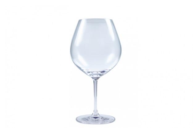 Het wijnglas islated op witte achtergrond.