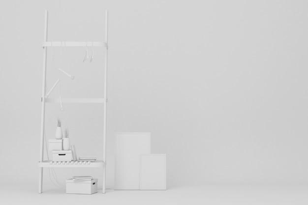 Het witte plank en kunstwerk 3d teruggeven
