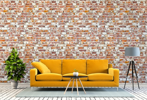 Het woonkamerbinnenland in moderne stijl, 3d geeft terug