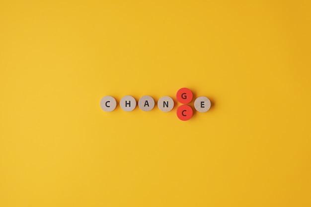 Het woord veranderen in kans veranderen