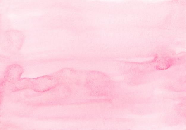Het zachte roze van de waterverfpastelkleur schilderen als achtergrond. aquarel lichte fuchsia vloeibare achtergrond vlekken op papier.