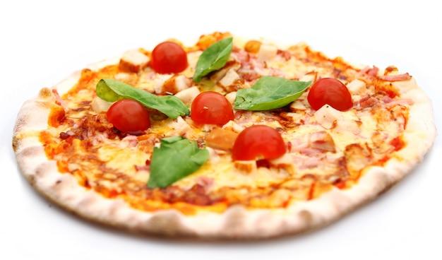 Hete en smakelijke pizza