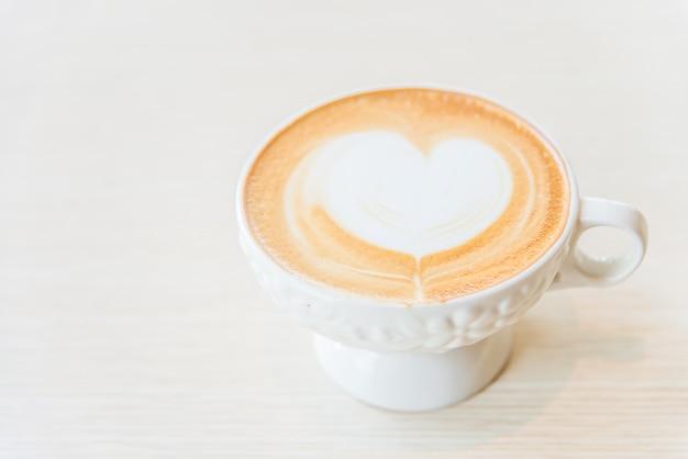 Hete latte koffiekop