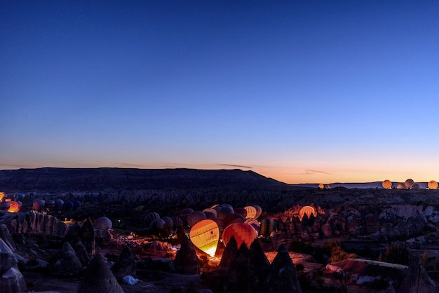Hete lucht ballonnen in cappadocië, turkije