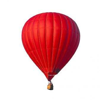 Hete lucht rode ballon