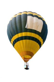 Hete luchtballon geïsoleerd op een witte achtergrond. zachte focus