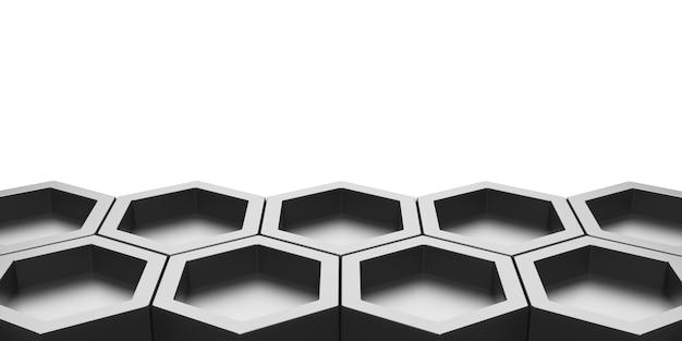 Hexagon abstract bee nest glanzende zeshoekige zeshoekige wand met honingraatpatroon