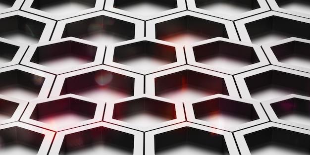 Hexagon abstracte glanzende staaltextuur zeshoekige honingraat