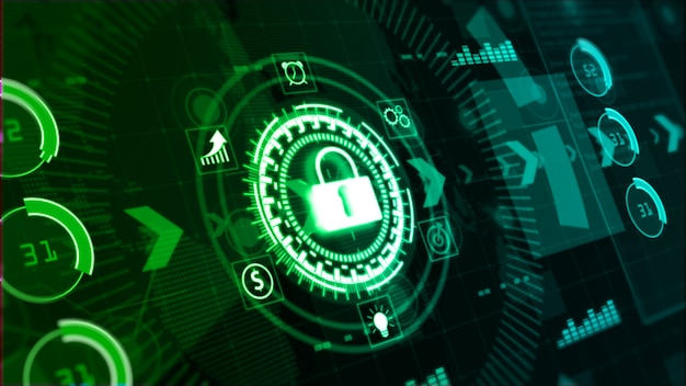 Hi-tech digitale weergave holografische abstracte achtergrond