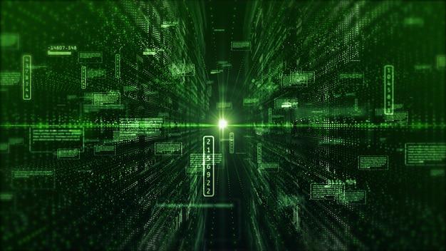 Hi-tech digitale weergave holografische informatie abstracte achtergrond
