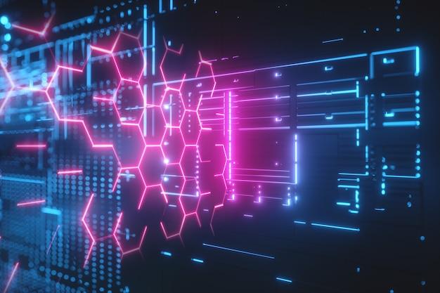 Hi-tech futuristische achtergrond.
