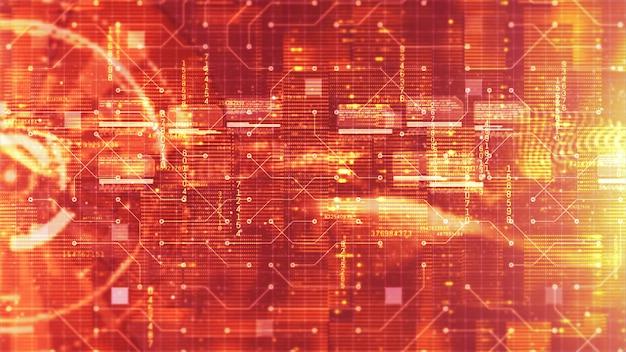 Hi-tech hud digitale en circuit weergave holografische achtergrond. technologie concept
