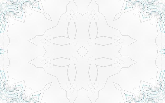 Hi-tech technologie stijl printplaat achtergrond. digitale regeling futuristisch minimalisme geavanceerde technische achtergrond