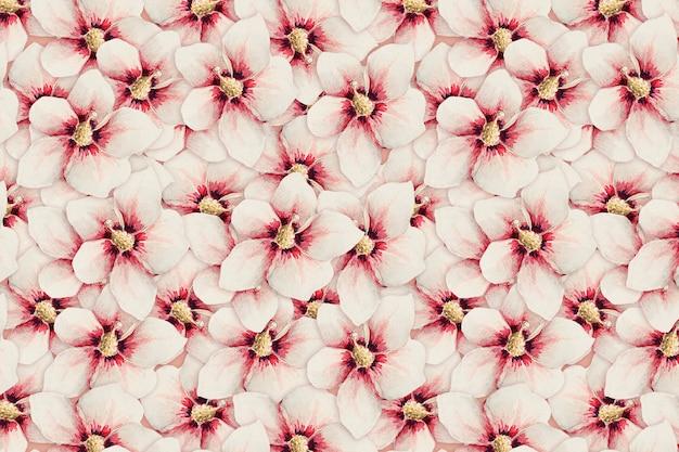 Hibiscus bloempatroon achtergrond, remix van kunstwerken van megata morikaga