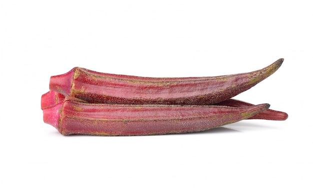 Hibiscussabdariffa of roselle vruchten die op wit worden geïsoleerd