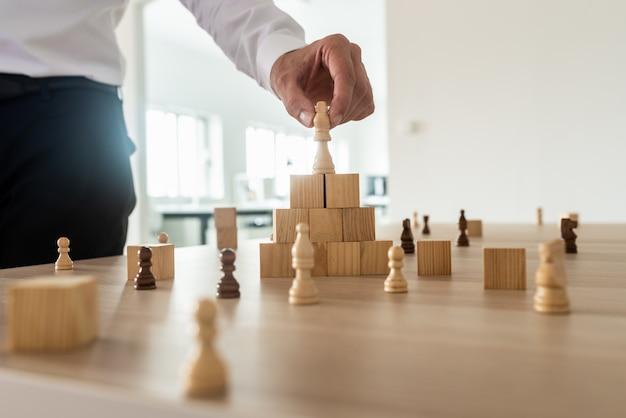 Hiërarchie bedrijfsconcept