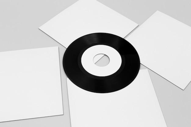 High-angle assortiment vinylverpakkingen