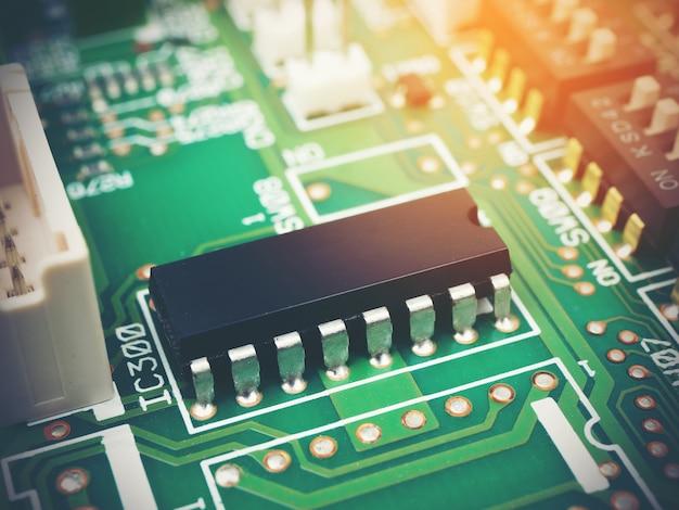 High-tech elektronische pcb (printed circuit board) met microchips-processortechnologie