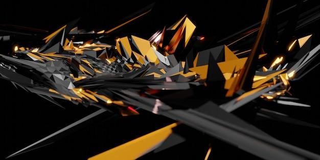 High tech technologie abstracte achtergrond cyberpunk concept 3d illustratie