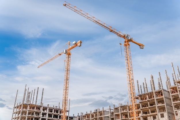 Hijskraan en woningbouw